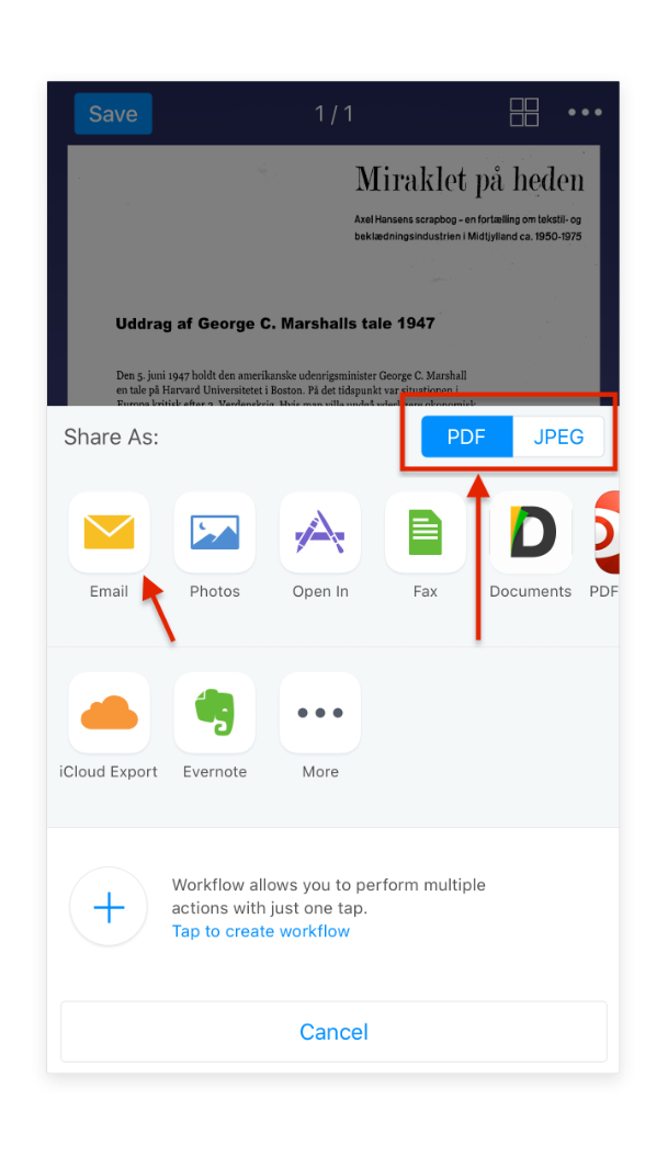 Email scans - Readdle Knowledge Base