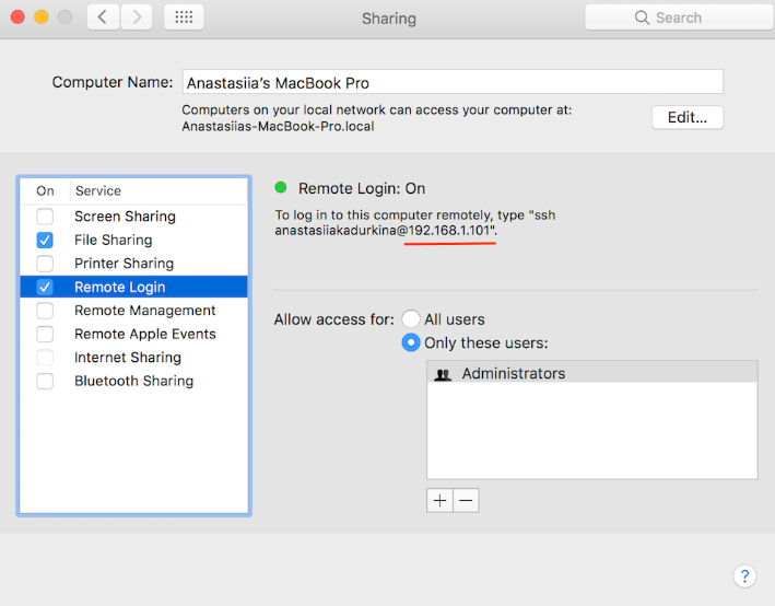 Set up sync with Mac via SFTP - Readdle Knowledge Base