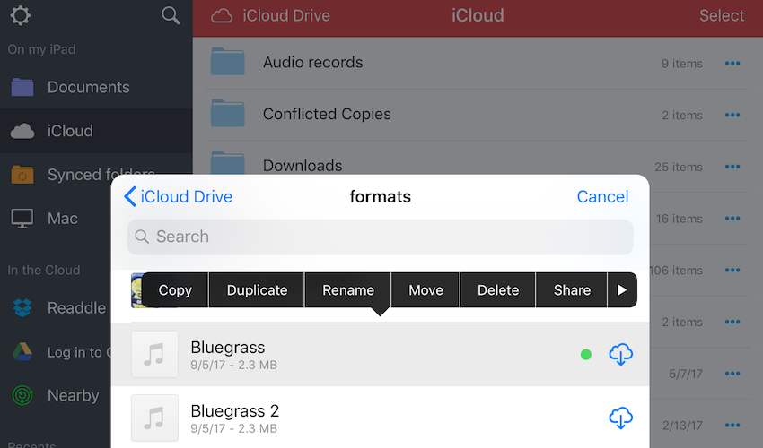Sync PDF files via iCloud Drive - Readdle Knowledge Base