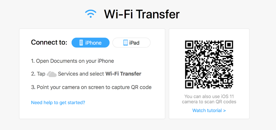 Manage files from a computer wirelessly via Wi-Fi Transfer - Readdle