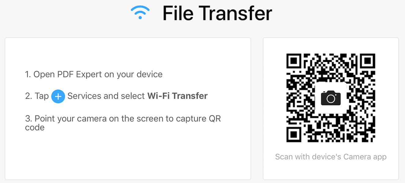 Manage files from a computer wirelessly with Wi-Fi Transfer