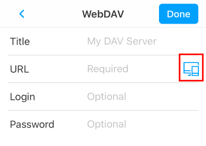 Transfer files to another device with WebDAV and AirDrop