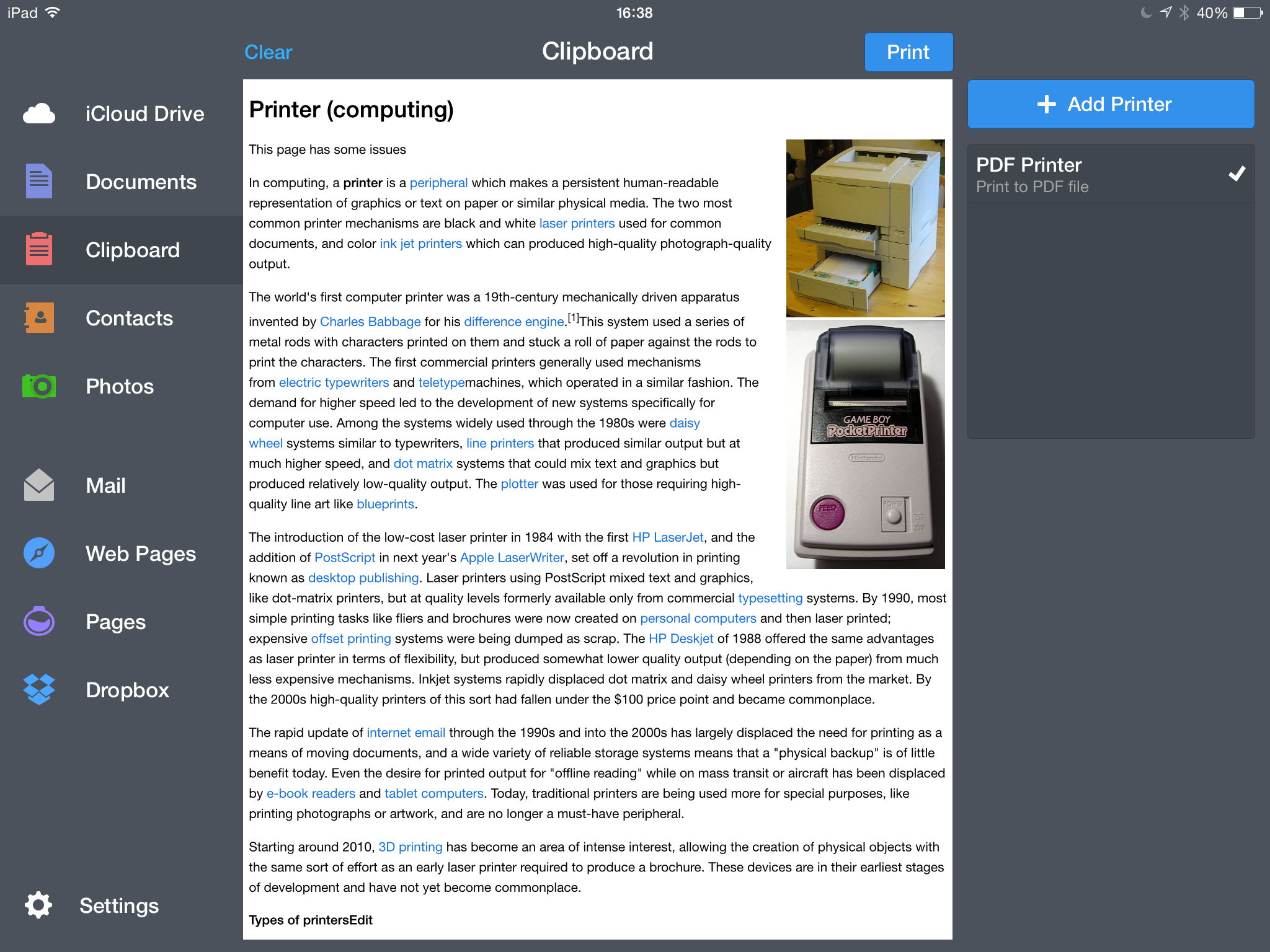 How to print Safari web pages without clutter - Readdle